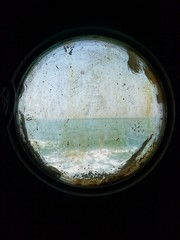 Porthole of the ship  #porthole #window #shipwindow #dark #ocean #sea #blue