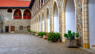 The monastery courtyard