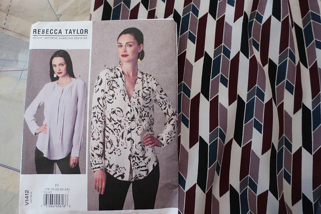 Vogue pattern silk blouse for H