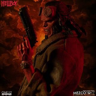 精彩的造型細節讓人大呼過癮! MEZCO ONE:12 COLLECTIVE 系列《地獄怪客:血后的崛起》地獄怪客 (2019) Hellboy (2019) 1/12 比例人偶作品