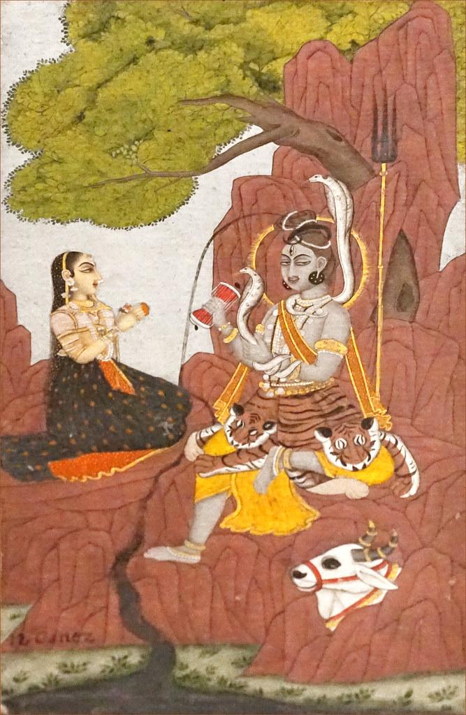 Shiva et Parvati sur le mont Kailasa (musée Guimet, Paris)