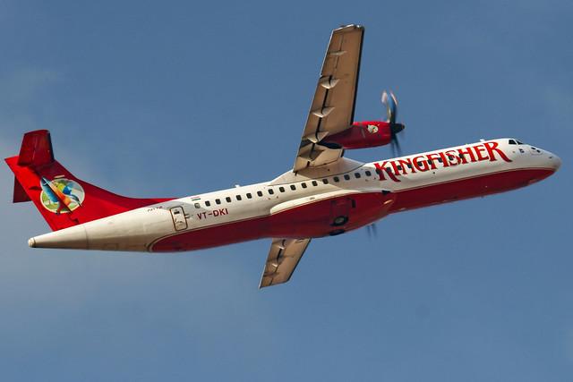 Kingfisher Aerospatiale ATR72 VT-DKI Bangalore (BLR/VOBL)