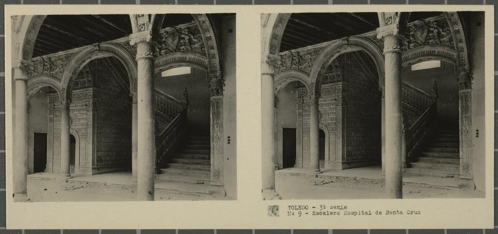 Hospital de Santa Cruz. Colección de fotografía estereoscópica Rellev © Ajuntament de Girona / Col·lecció Museu del Cinema - Tomàs Mallol