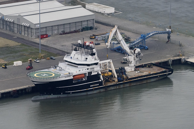 Subsea construction vessel - The DeepOcean Volantis - aerial image