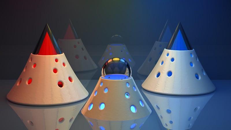 Обои треугольники, шар, яркий, стекло картинки на рабочий стол, фото скачать бесплатно