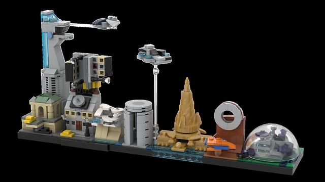 LEGO Avengers Skyline Architecture MOC 02