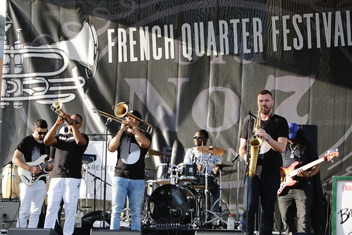 Brass-A-Holics on Day 1 of French Quarter Fest - 4.11.19. Photo by Michele Goldfarb.
