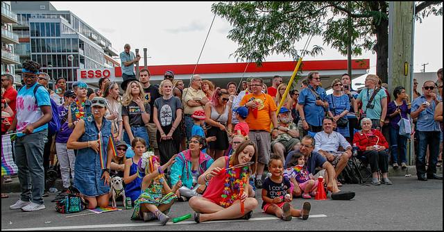 Pride Parade Watchers