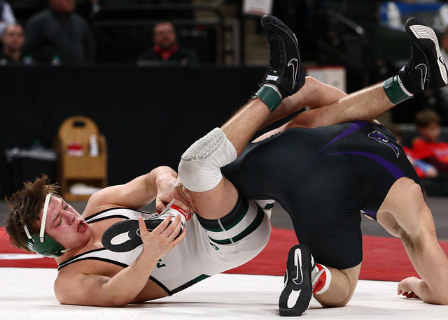 170AAA 1st Place Match - Riley Habisch (Buffalo) 39-0 won by decision over Chase Dressel (Mounds View) 44-5 (Dec 3-0) - 190302bmk0294