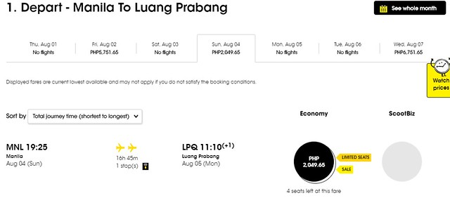 Scoot Airlines Manila to Luang Prabang Promo