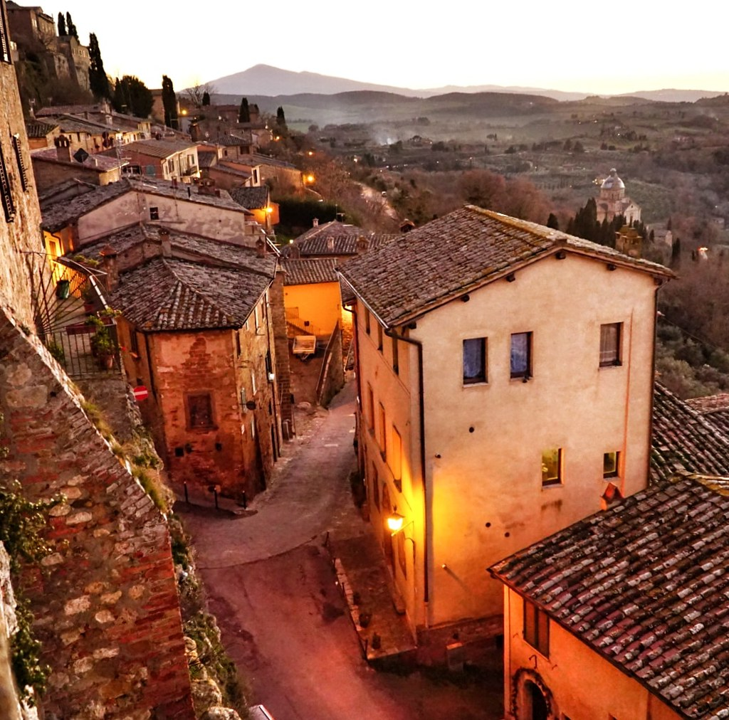 Viime joulolomalla oltiin yksi yö Montepulcianossa