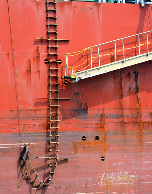 Freighter's staircase.