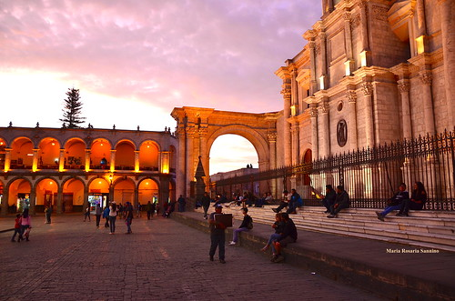 What a magical sunset in Arequipa (Perù) | by Maria Rosaria Sannino/images and words
