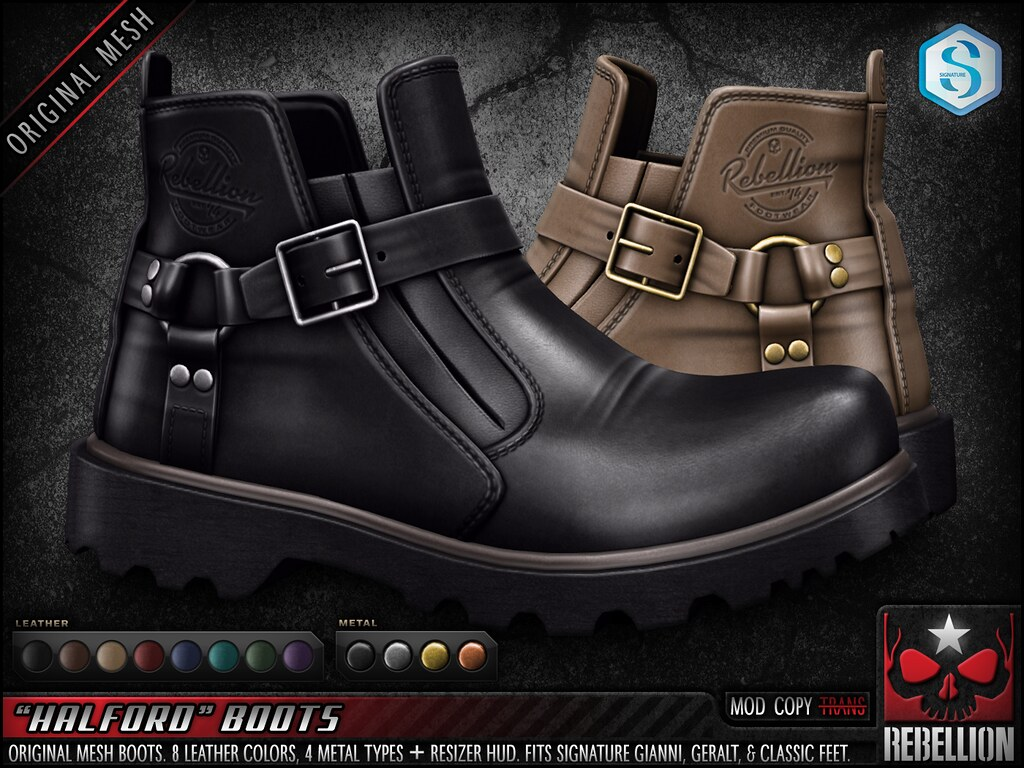 "= REBELLION = ""HALFORD"" BOOTS"
