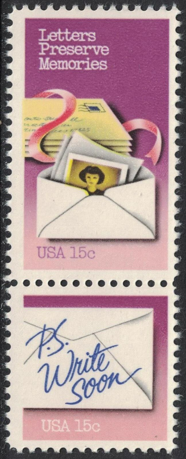 United States - Scott #1805-1806 (1980) Letters Preserve Memories/P.S. Write Soon