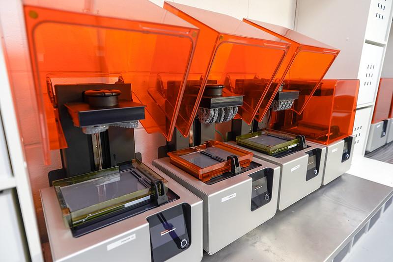 Dental Print Farm Production High Yield of Dental Models with Formlabs Form 2 SLA 3D Printer