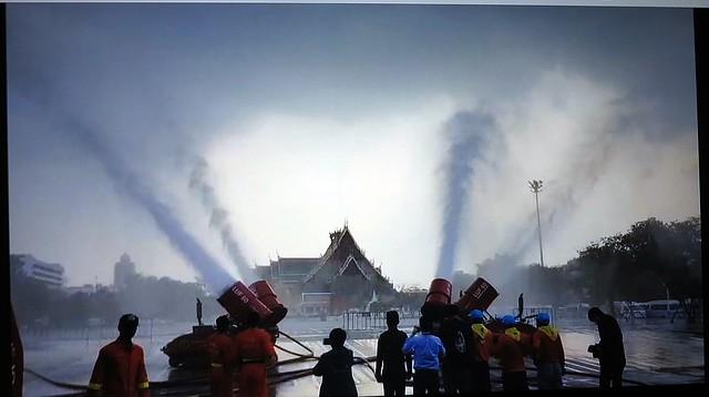 water canons vs smog