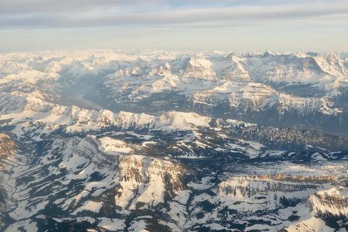 panoramic view on Swiss Alps Bernese Oberland Switzerland
