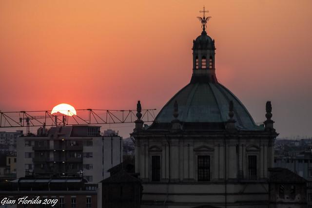 Urban sunset, yesterday