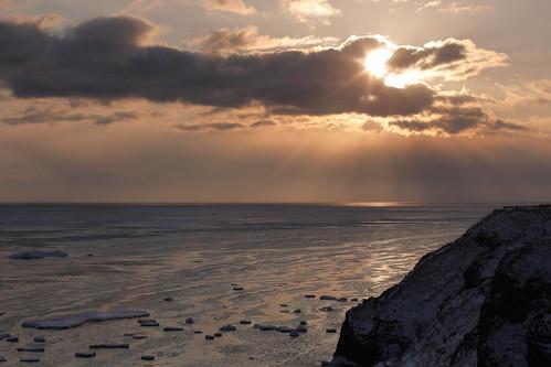 sunrise clouds driftice goldenhour