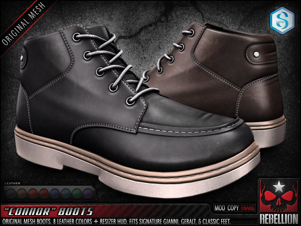 "= REBELLION = ""CONNOR"" BOOTS"