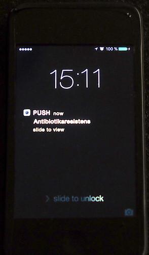 Anna Lidberg – Titeln Antibiotikaresistens som pushnotis