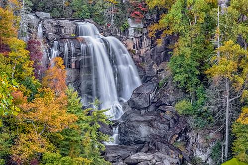 leaves waterfall whitewater falls whitewaterfalls