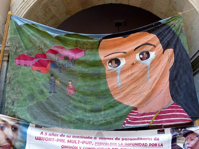 Protest banner Oaxaca, Mexico - 2015