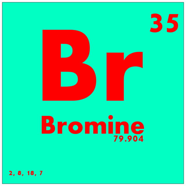 035 Bromine Periodic Table Of Elements Watch Study Guide