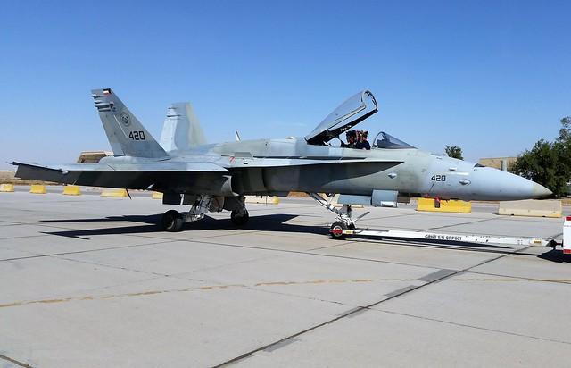 F/A-18C Hornet 420 25Sq Kuwait Air Force/ KAF. Ahmed Al Jaber Air-Base, Kuwait. 2016.
