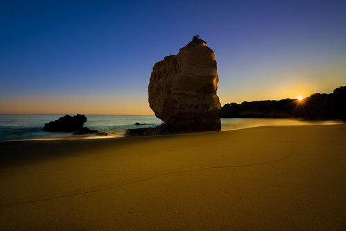Sunset Silhouette At Praia De São Rafael, Algarve, Portugal | by www.craigrogers.photography