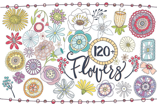Fantasy Flowers - PNG & Vector Illustrations | by Carrie Stephens