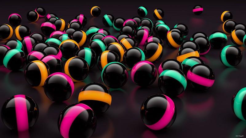 Обои шары, подсветка, стекло картинки на рабочий стол, фото скачать бесплатно