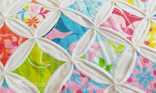 Cathedral windows quilt wip   by Carina » Polka & Bloom