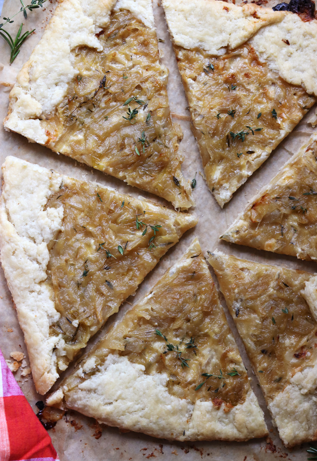 Caramelized Onion Galette with Parmesan Cream