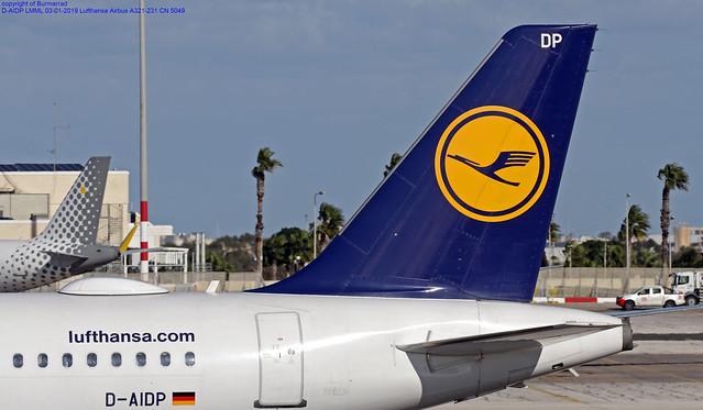 D-AIDP LMML 03-01-2019 Lufthansa Airbus A321-231 CN 5049