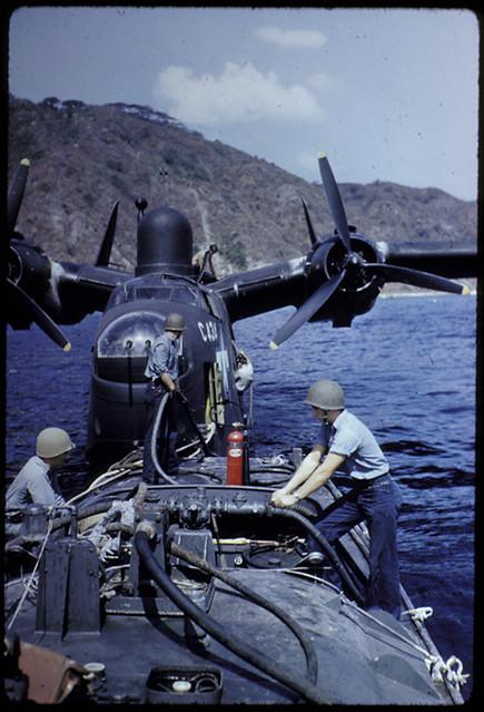 PBM-5 Mariner refuels Saipan Mariana Islands April 1945 JEC 03162