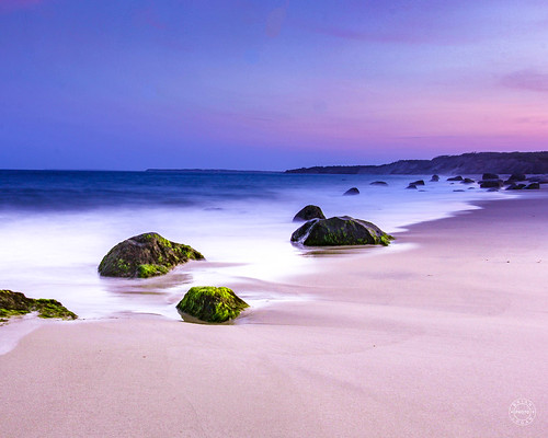 moss sky blue sand ocean sunset ndfilter purple landscape beach surf massachusetts marthasvineyard longexposure sea rocks chilmark unitedstates us