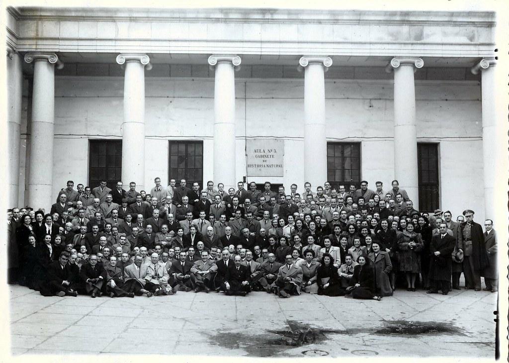 Homenaje a D. Juan Suero Díaz el 11 de diciembre de 1946. Colección de Carmen Vaquero.