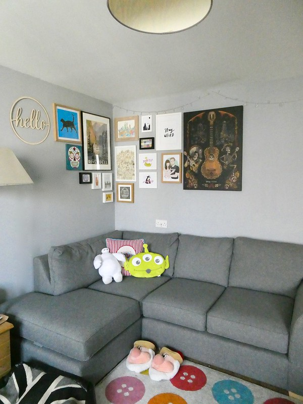 gallery wall - living room