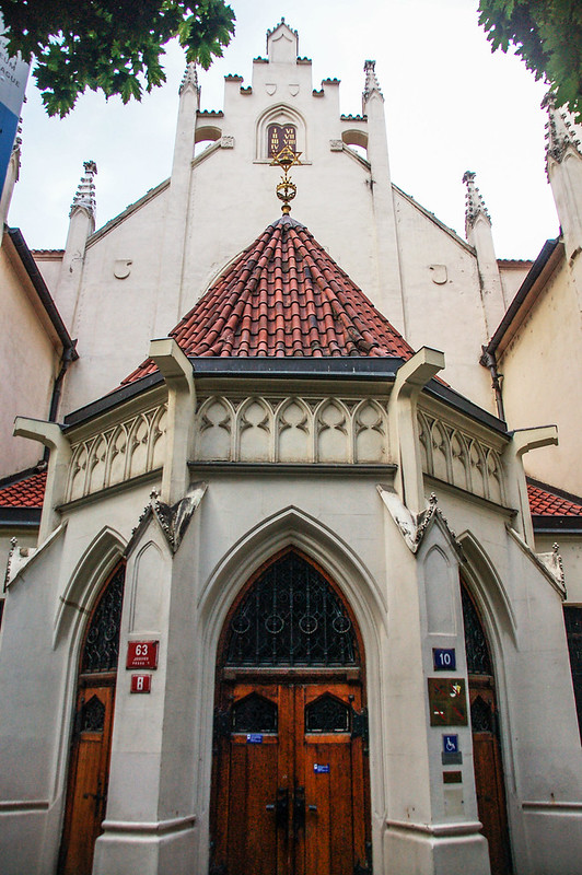 布拉格猶太區街景(Maisel Temple in Prague's old Jewish Quarter)