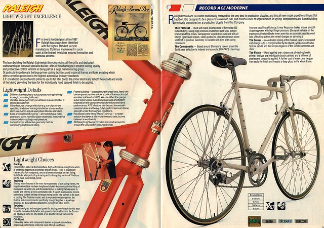 Raleigh Racers 1988 Catalogue