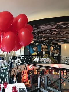 Tafeldecoratie 2ballonnen Hartballonnen Valentijnsdag The Harbourclub Rotterdam | by Globos Ballonnen