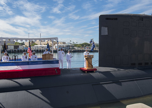 Commander, Submarine Force, U.S. Pacific Fleet holds a change of command. | by Official U.S. Navy Imagery
