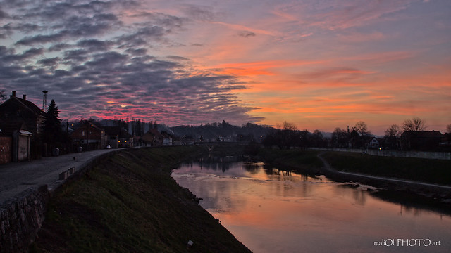 Dusk by the river Kupa