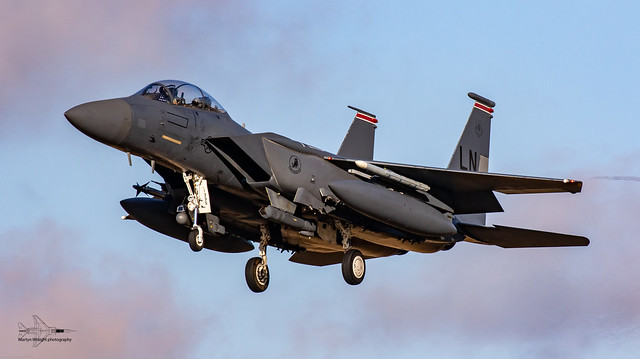 494th Fighter Squadron USAFE F15E Strike Eagle