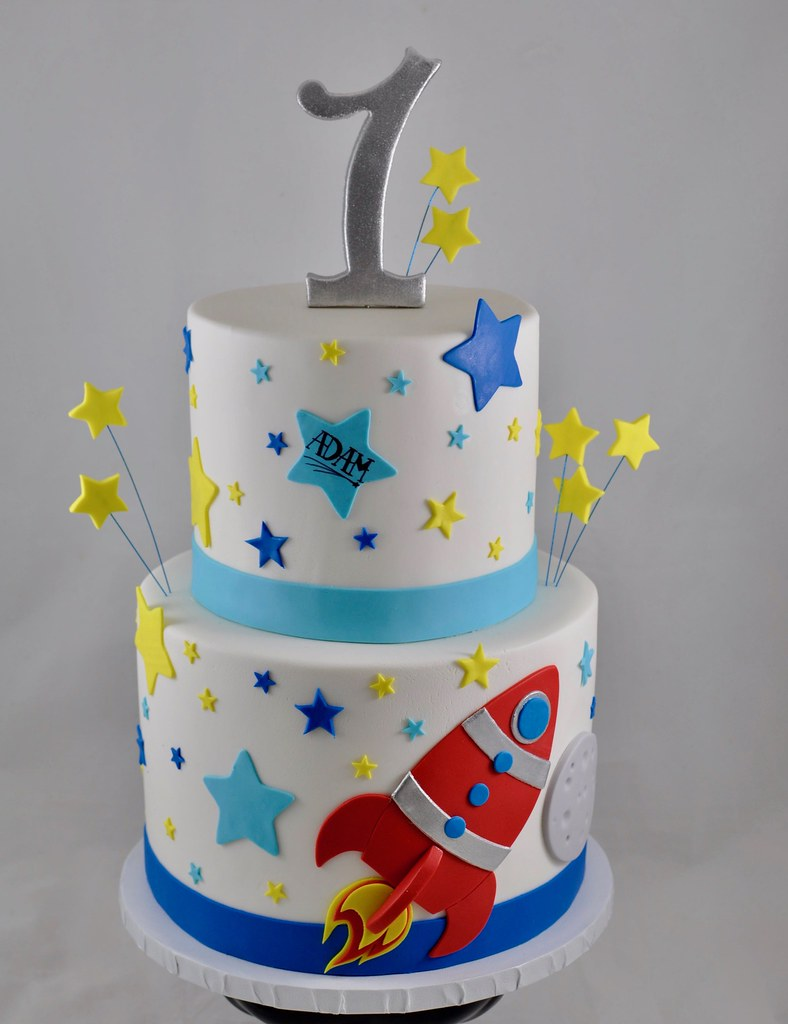 Tremendous Rocket Ship Birthday Cake Jenny Wenny Flickr Funny Birthday Cards Online Alyptdamsfinfo