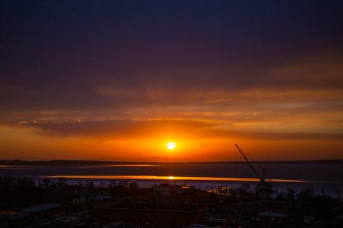vladivostok landscape evening sunset clouds