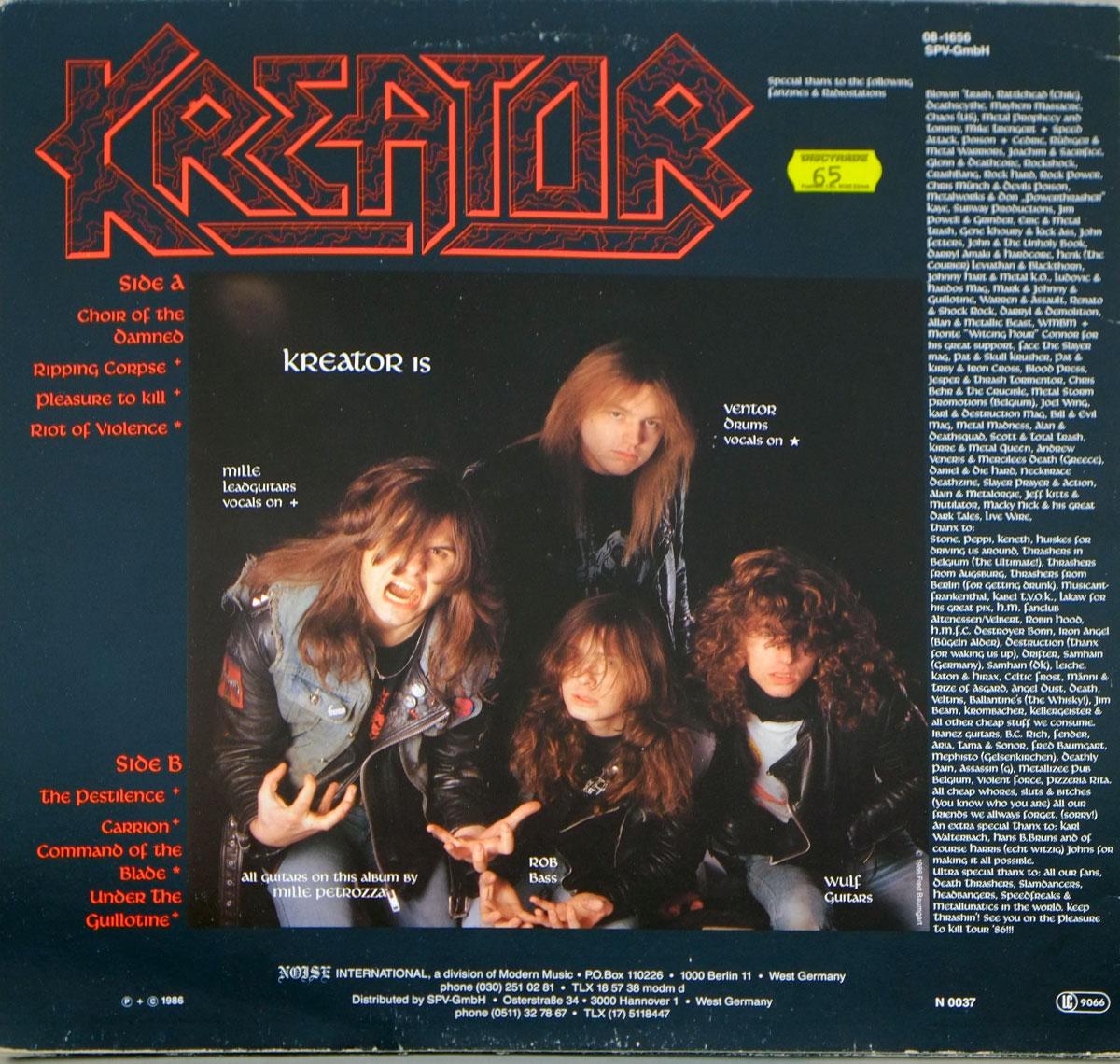 """KREATOR PLEASURE TO KILL + POSTCARD 12"""" LP VINYL"""