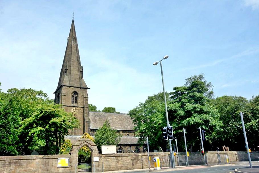 BURNLEY, All Saints exterior